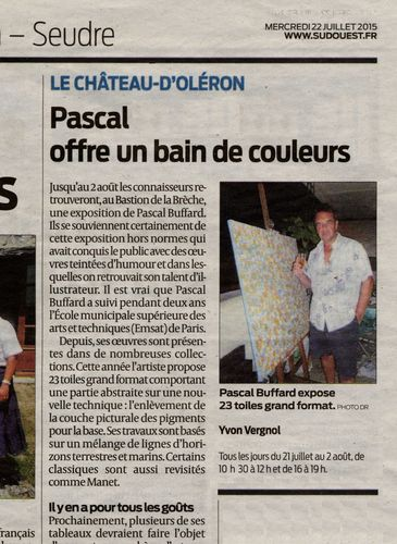 Article journal sud-Ouest 2015